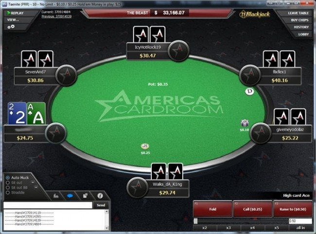 Americas Cardroom Texas Holdem